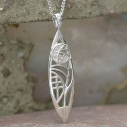 "Cairn 101 Silver Rennie Mackintosh Pendant - Insch. ""3 Wee Diamonds"" 2"