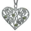 4 peridots. Silver necklace. Charles Rennie Mackintosh. Cairn pendant 174 d Homeland