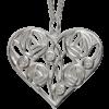 4 diamonds. Silver necklace. Charles Rennie Mackintosh. Cairn pendant 178 Homeland