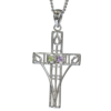 """Amethyst & peridot silver """"Queen's Cross"""" necklace. Charles Rennie Mackintosh. Cairn pendant 200"""