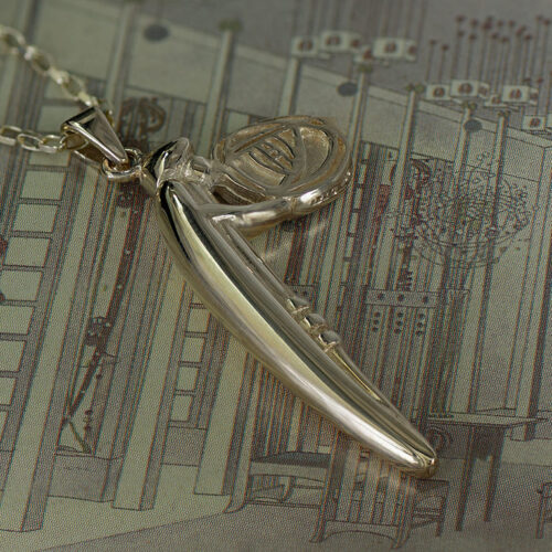 """Feature Solid Heavy 9ct Gold Charles Rennie Mackintosh Necklace """"Lady Rose"""" Cairn 210G"""