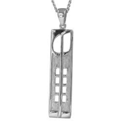 """Hill House"" Silver Charles Rennie Mackintosh necklace. Cairn pendant 230"