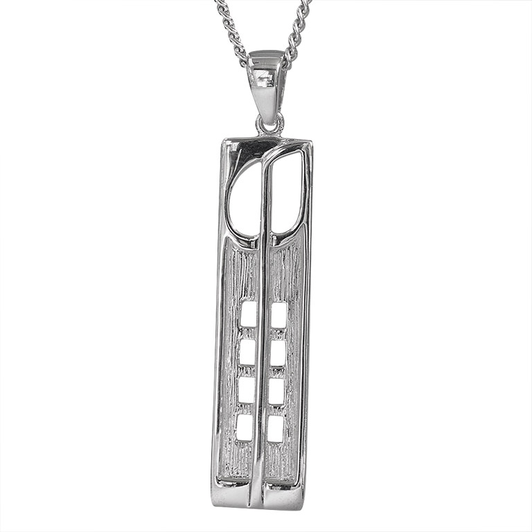 "Charles Rennie Mackintosh Necklace ""Hill House"". Sterling Silver. Tarnish Resistant. Cairn 230"