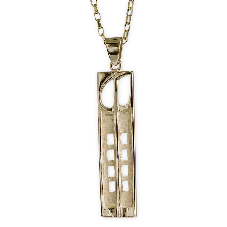 "9ct Gold Charles Rennie Mackintosh Necklace ""Hill House"" Cairn 230G"
