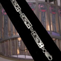 Cairn 240 Shorter Ladies Silver Rennie Mackintosh Bracelet - Tarnish Resistant. British Made. Rennie Mackintosh Jewellery.