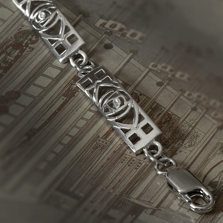 Cairn 240 Shorter Charles Rennie Mackintosh Bracelet Sterling Silver. Tarnish Resistant.