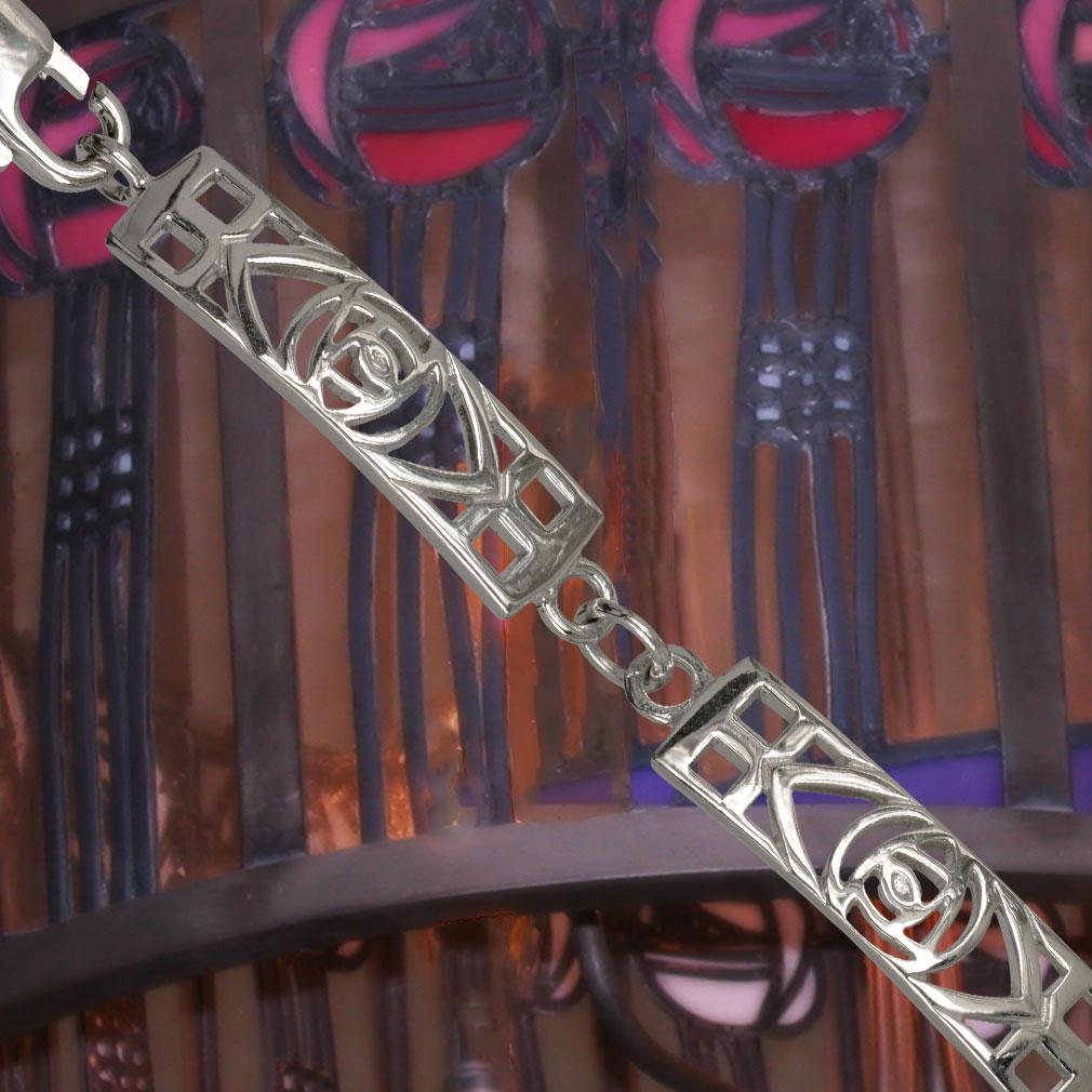 Cairn 240 Shorter Ladies Silver Rennie Mackintosh Bracelet – Tarnish Resistant. British Made.
