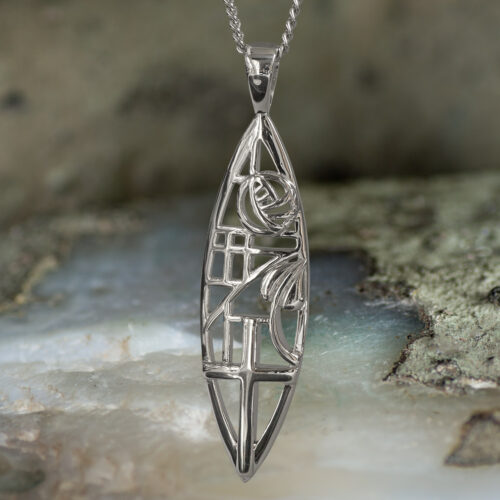 """Sterling Silver Charles Rennie Mackintosh Necklace """"Martyr"""". Tarnish Resistant. Cairn 261"""