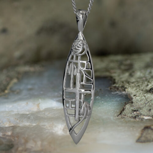 "Sterling Silver Charles Rennie Mackintosh Pendant ""Herald"" Tarnish Resistant. Cairn 271"