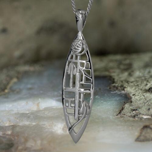 "Sterling Silver Charles Rennie Mackintosh Pendant ""Herald"" Tarnish Resistant. Cairn 271"