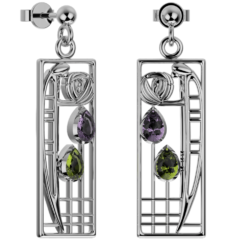 "Mackintosh earrings ""Lover"""