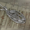 "Charles Rennie Mackintosh Necklace ""Balmoral"". Diamond. Sterling Silver. Tarnish Resistant. Cairn 334"