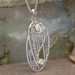 "Cairn 334 Silver Rennie Mackintosh Pendant - ""Balmoral"". Diamond. 2"
