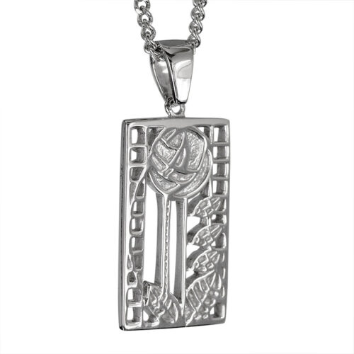 "Charles Rennie Mackintosh Necklace ""De Luxe"". Sterling Silver. Tarnish Resistant. Cairn 401"