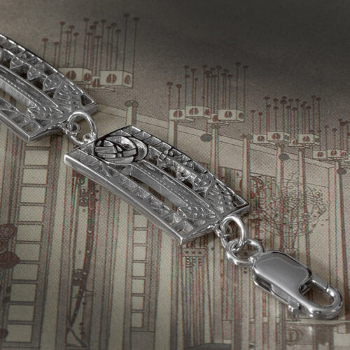 "Cairn 410 Charles Rennie Mackintosh Bracelet ""De Luxe"". Sterling Silver. Tarnish Resistant."