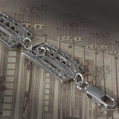 "Cairn 410 Charles Rennie Mackintosh Bracelet ""De Luxe"". Sterling Silver. Tarnish Resistant."