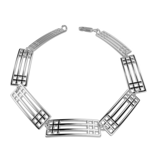 """Lattice"" silver bracelet. Charles Rennie Mackintosh. Cairn 501"