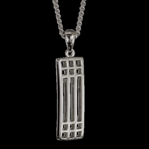 "Cairn 502 Silver Rennie Mackintosh Pendant ""Lattice"". Tarnish Resistant."