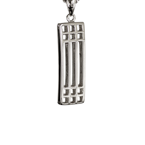 """Lattice"" silver necklace. Charles Rennie Mackintosh. Cairn pendant 502"