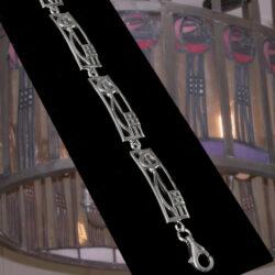 """Cairn 521 Silver Rennie Mackintosh Bracelet - """"Cranston"""". Tarnish Resistant. British Made. Rennie Mackintosh Jewellery."""