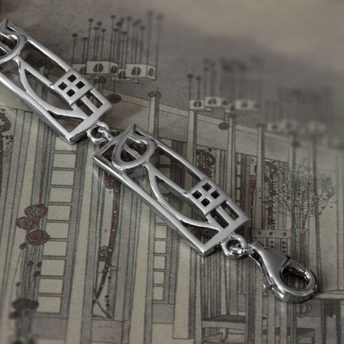 "Charles Rennie Mackintosh Bracelet ""Cranston"". Sterling Silver. Tarnish Resistant. Cairn 521"