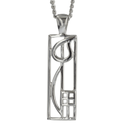 "Charles Rennie Mackintosh Necklace ""Cranston"". Sterling Silver. Tarnish Resistant. Cairn 522"
