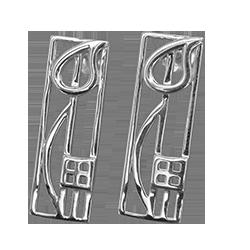 Charles Rennie Mackintosh silver earrings Cranston. Cairn 523