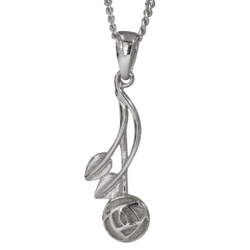 """Willow"" silver necklace. Charles Rennie Mackintosh. Cairn pendant 544"