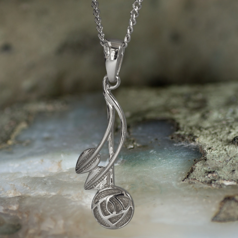 """Sterling Silver Charles Rennie Mackintosh Pendant """"Willow"""". Tarnish Resistant. Cairn 544"""