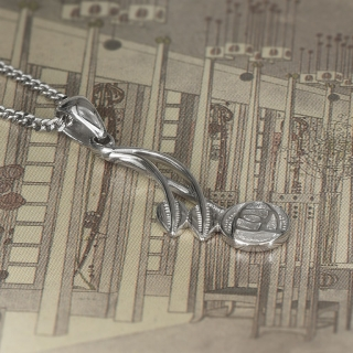 """Charles Rennie Mackintosh Necklace """"Willow"""". Sterling Silver. Tarnish Resistant. Cairn 544"""