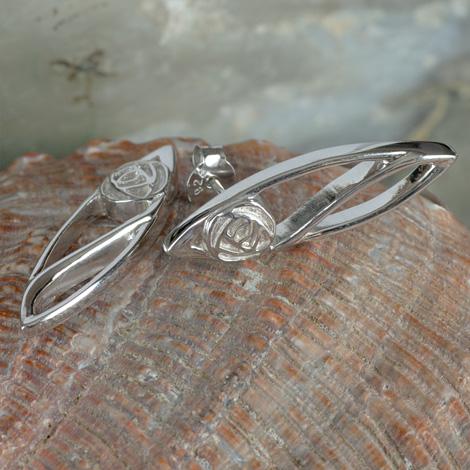 "Cairn 553 Silver Rennie Mackintosh Earrings - ""Buchanan"". Tarnish Resistant. British Made. Rennie Mackintosh Jewellery."