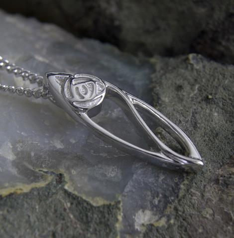 """Cairn 554 Silver Rennie Mackintosh Pendant - """"Buchanan"""". Tarnish Resistant. British Made. Rennie Mackintosh Jewellery."""