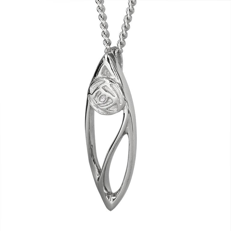 "Charles Rennie Mackintosh Necklace ""Buchanan"". Sterling Silver. Tarnish Resistant. Cairn 554"
