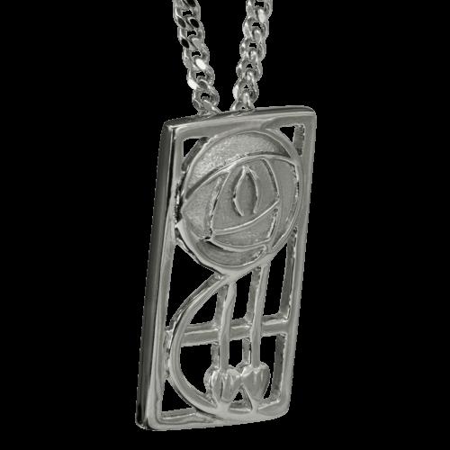"Cairn 571 Silver Rennie Mackintosh Pendant ""Keppie"". Tarnish Resistant."
