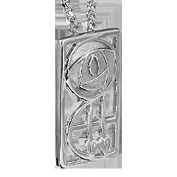 """Keppie"" silver necklace. Charles Rennie Mackintosh. Cairn pendant. 571"