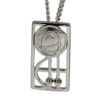 """Keppie"" silver necklace. Charles Rennie Mackintosh. Cairn pendant. 571"