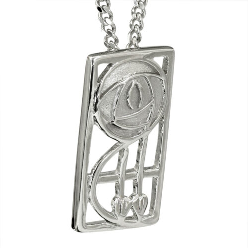 "Charles Rennie Mackintosh Necklace ""Keppie"". Sterling Silver. Tarnish Resistant. Cairn 571"