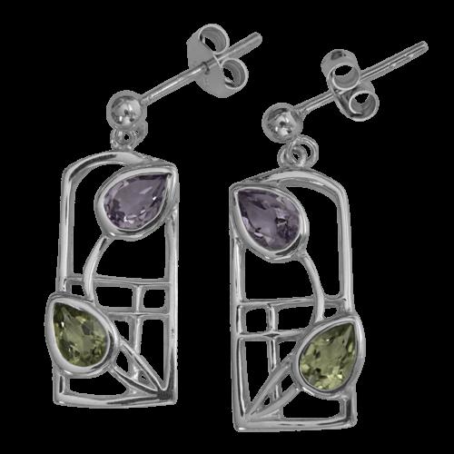 """Mackintosh earrings """"Dern"""""""