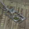 "Charles Rennie Mackintosh Necklace ""Skyelawn"" Peridot & Blue Topaz. Sterling Silver. Tarnish Resistant. Cairn 600"