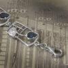 "Cairn 604b Charles Rennie Mackintosh Bracelet ""Saltire"". Royal Blue Sapphire & White Czs. Sterling Silver. Tarnish Resistant."