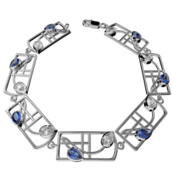 "Mackintosh bracelet ""Saltire"""