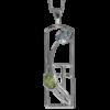 Peridot & blue topaz silver necklace. Charles Rennie Mackintosh. Cairn pendant 606 Skyelawn