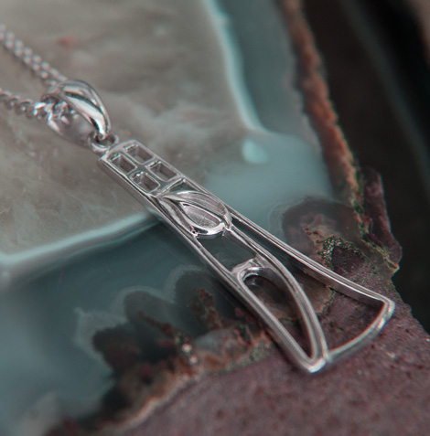 "Cairn 630 Delicate Silver Rennie Mackintosh Pendant - ""Frances"". Tarnish Resistant. British Made. Rennie Mackintosh Jewellery."