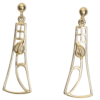 """Cairn 632G 9ct Gold Charles Rennie Mackintosh Earrings """"Frances"""". British Made."""
