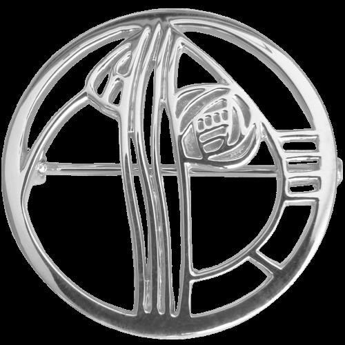 """Studio Roundel"" silver brooch. Charles Rennie Mackintosh. Cairn 710"