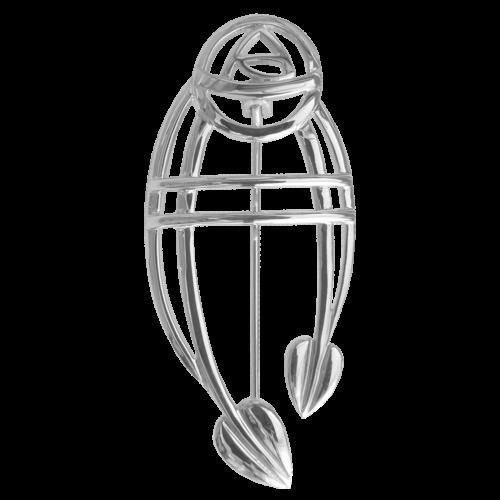"""""""Ruchill"""" silver brooch. Charles Rennie Mackintosh. Cairn 711"""