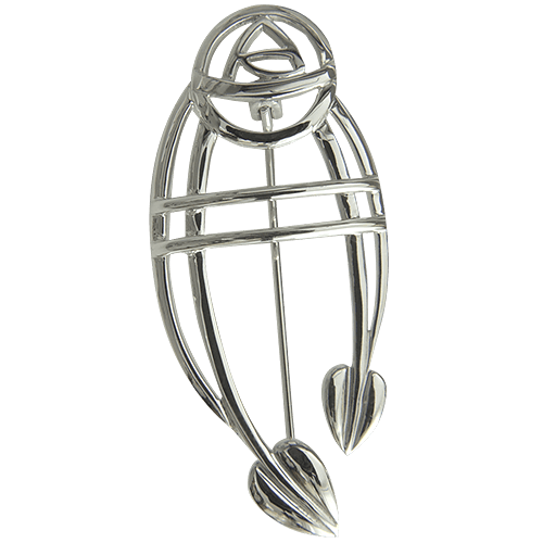 "Charles Rennie Mackintosh Brooch ""Ruchill"". Sterling Silver. Tarnish Resistant. Cairn 711"