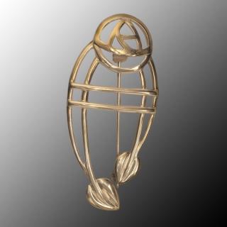 """Cairn 711G 9ct Gold Charles Rennie Mackintosh Brooch """"Ruchill"""""""