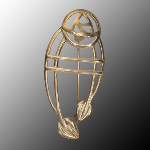 "Cairn 711G 9ct Gold Charles Rennie Mackintosh Brooch ""Ruchill"""