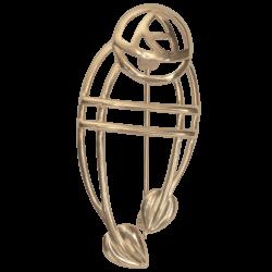 """Cairn 711G 9ct Gold Charles Rennie Mackintosh Brooch """"Ruchill"""". British Made."""